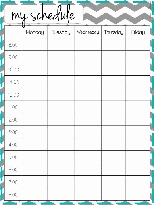 Speech therapy Schedule Template Fresh Cute Class Schedule Maker