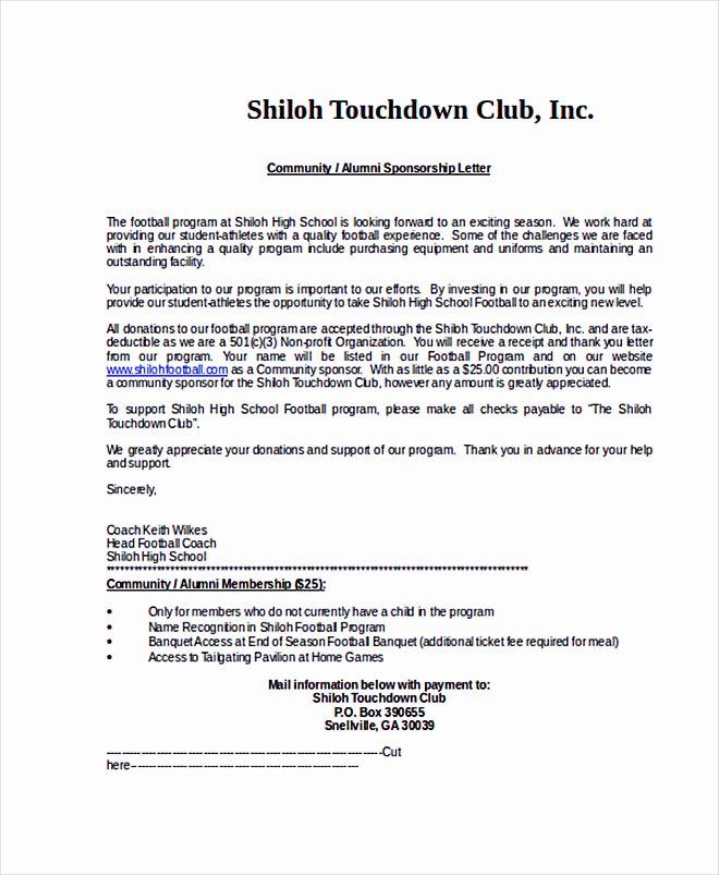 Sponsor Letter for Student Luxury 14 Sponsorship Letter Template