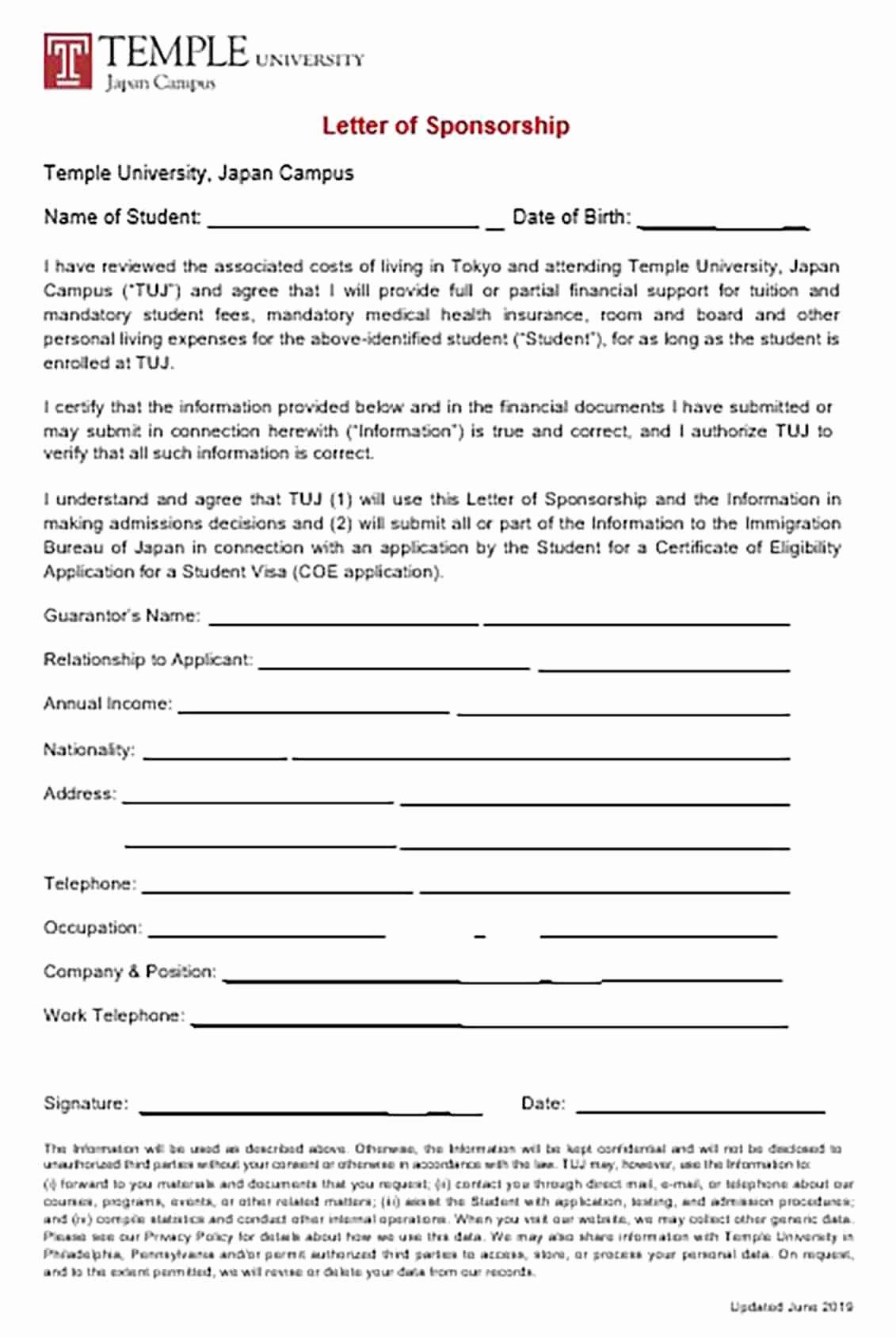 Sponsor Letter for Student New Visa Sponsorship Letter and Tips to Make the Reader Interested In