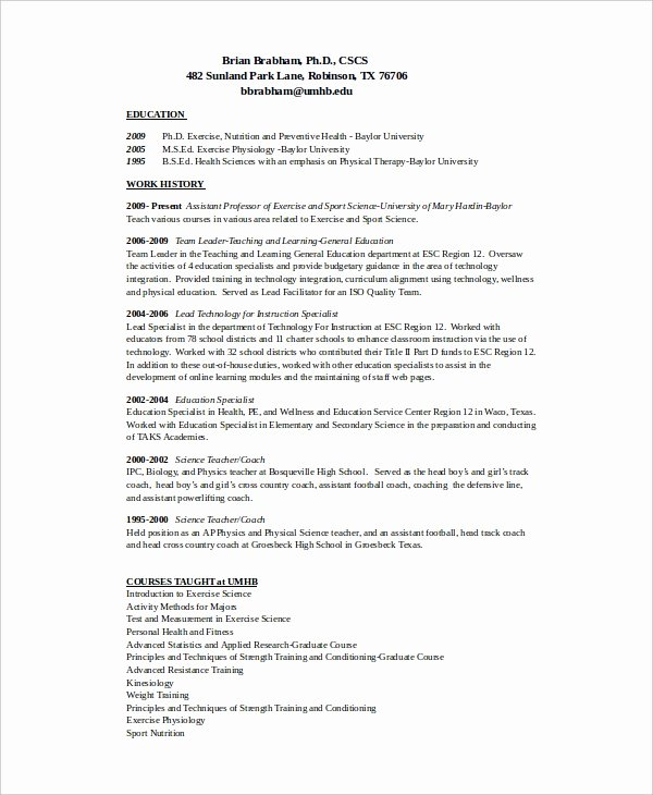 Sports Resume for Coaching Beautiful 12 Coach Resume Templates Pdf Doc