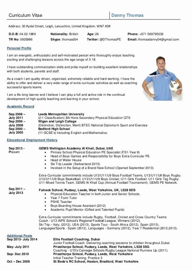 Sports Resume for Coaching Beautiful Image Result for Rugby Cv Template Exercises