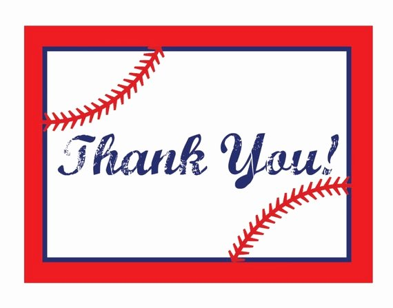 Sports Thank You Cards Fresh Baseball themed Thank You Notes by Jamiesikesdesigns On Etsy