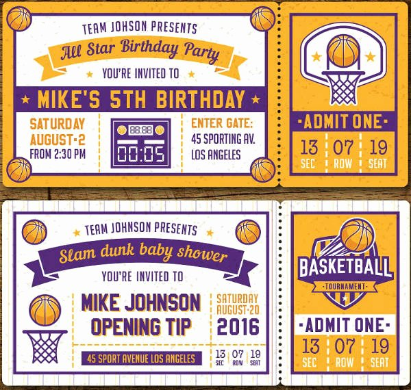 Sports Ticket Invitation Template Free Beautiful 17 Sports Ticket Invitation Designs & Templates Psd Ai Word