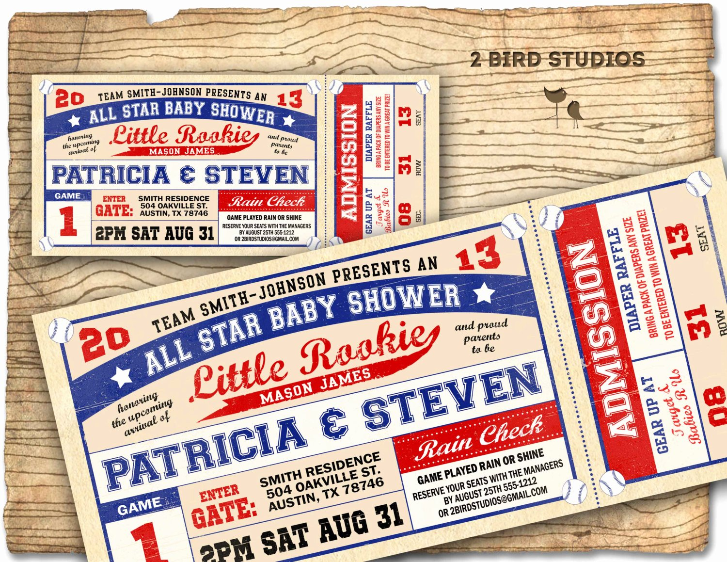 Sports Ticket Invitation Template Free Beautiful Baseball Baby Shower Invitation Baseball Baby by 2birdstudios