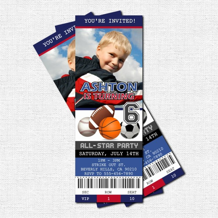 Sports Ticket Invitation Template Free Beautiful Ticket Birthday Invitation Template Free