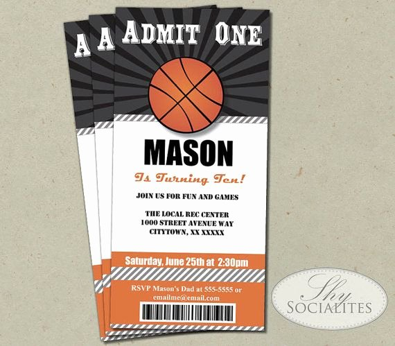 Sports Ticket Invitation Template Free Fresh Basketball Ticket Invitation
