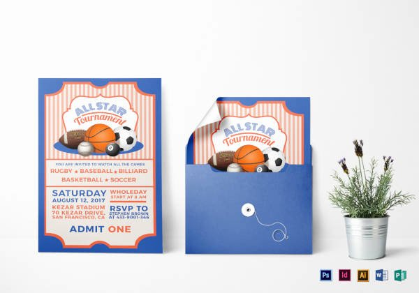 Sports Ticket Invitation Template Free Inspirational 17 Sports Ticket Invitation Designs & Templates Psd Ai Word