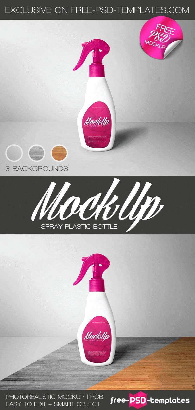Spray Bottle Label Template Awesome Free Spray Plastic Bottle Mockup Psd Free Psd Templates Free Photoshop…