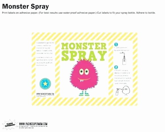 Spray Bottle Label Template Unique Spray Bottle Label Template – Fujibell