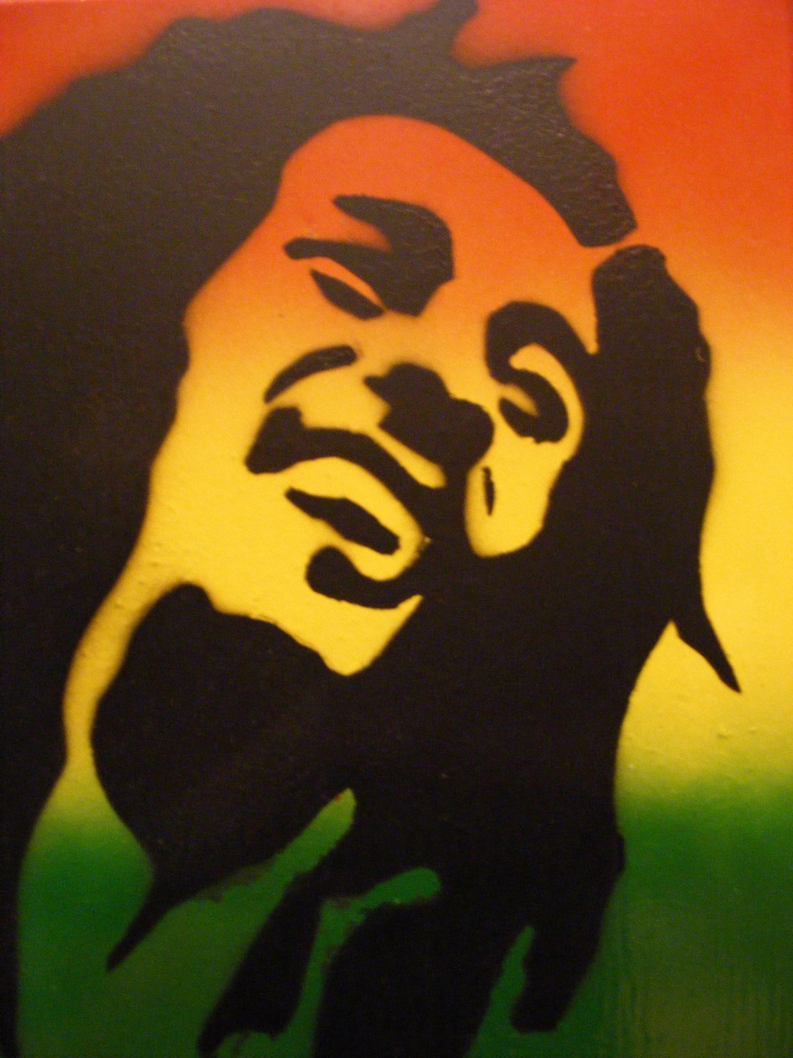 Spray Paint Art Stencils Awesome Spray Paint Stencil Art On Wood Bob Marley