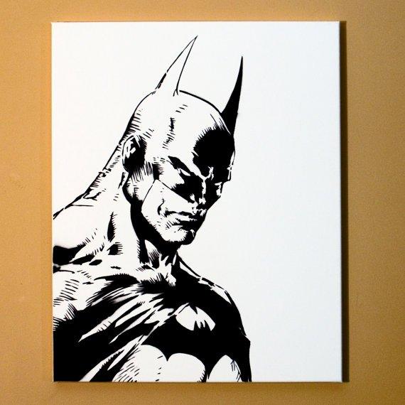 batman art spray paint from handmade