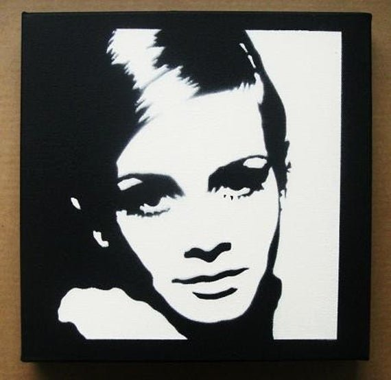 Spray Paint Art Stencils Elegant Twiggy Stencil Graffiti Spray Paint On Canvas Pop Art