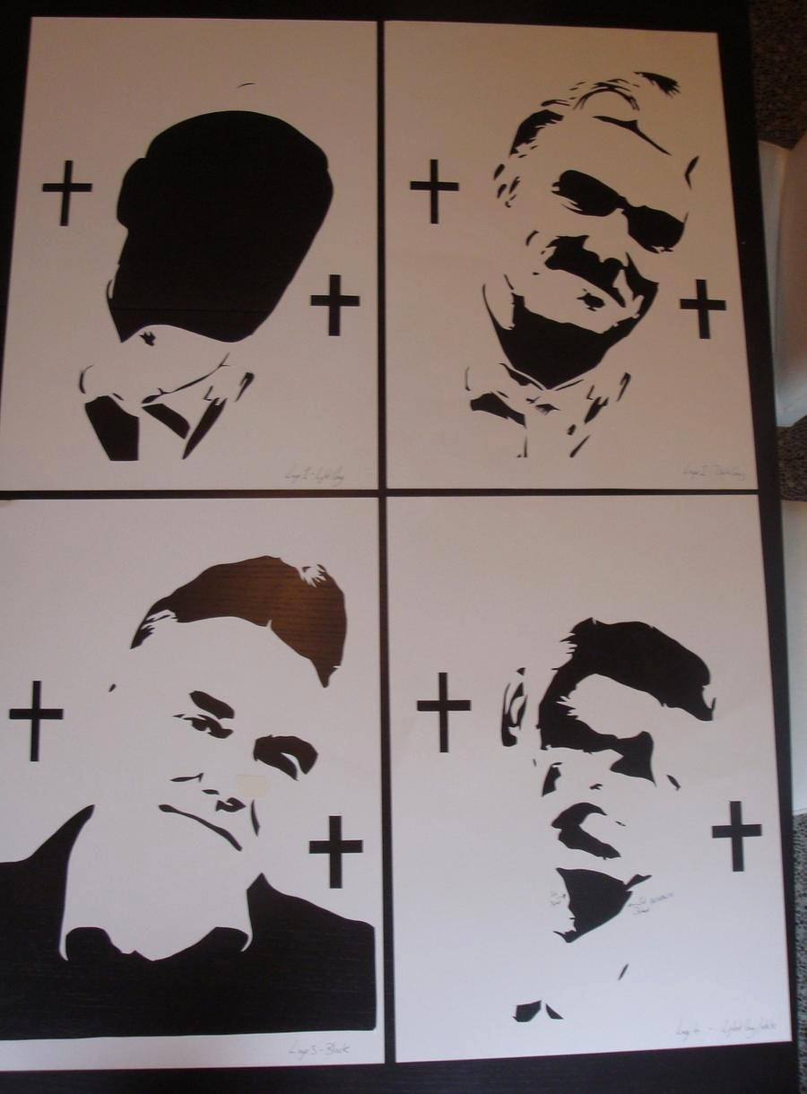 Spray Paint Art Stencils New Morrissey Stencils Ready for Spray Paint by Ramart79 On Deviantart