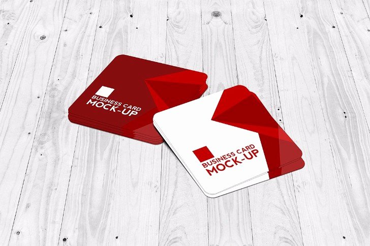 Square Business Card Mockup Awesome 25 Square Business Card Mockup Templates Mashtrelo