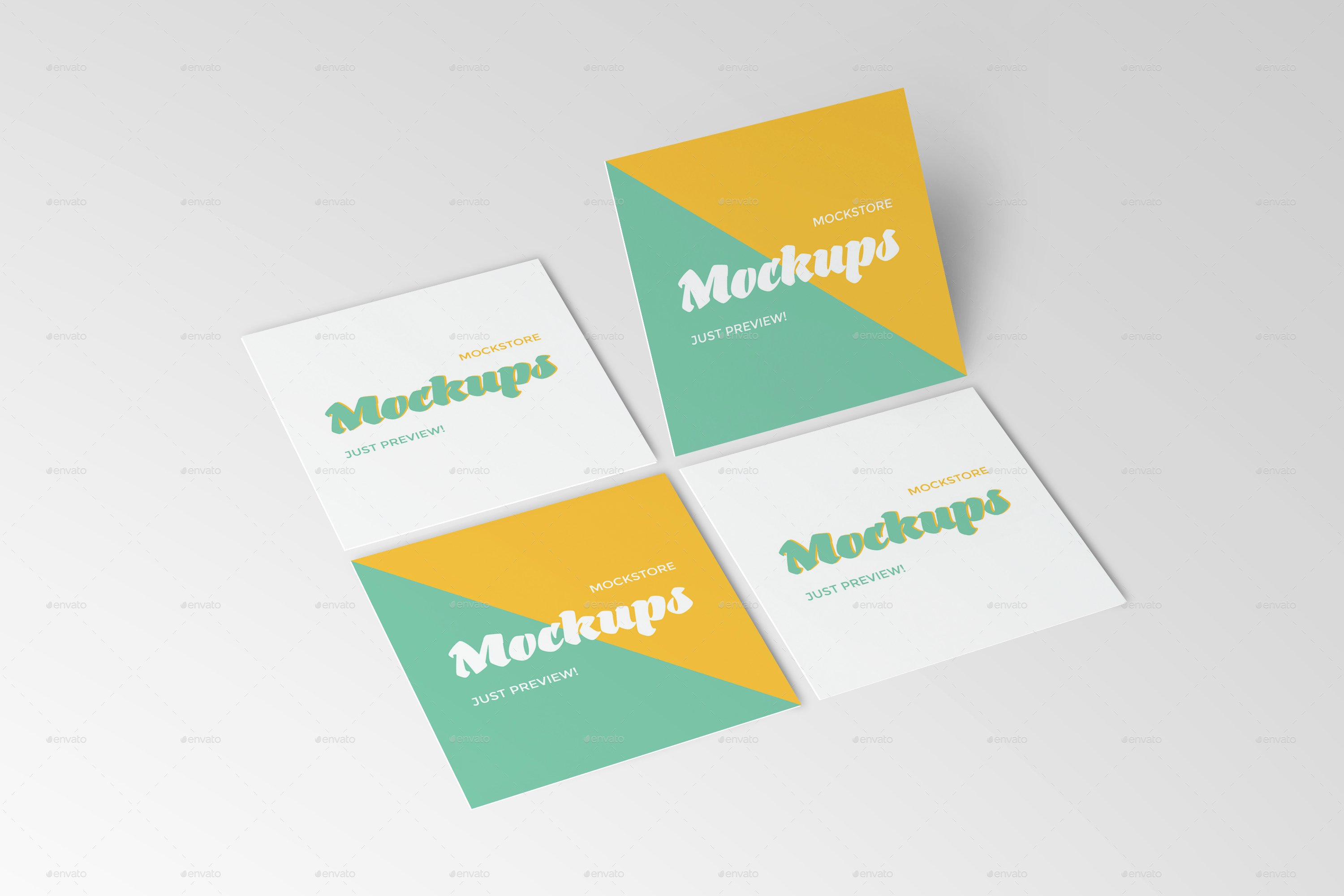 Square Business Card Mockup Elegant Square Business Card Mockups by Mockstore