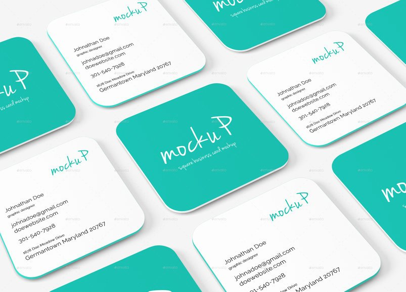 Square Business Card Mockup Fresh 35 Best Quality Business Card Psd Mockup Templates