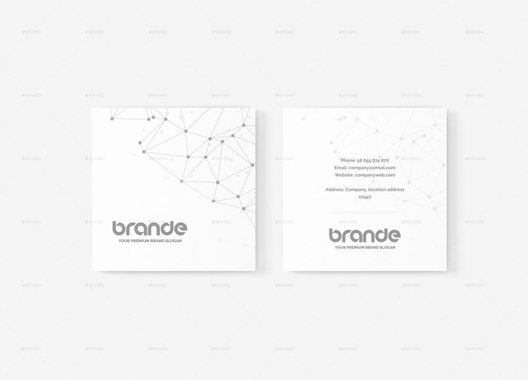 Square Business Card Mockup Inspirational 15 Best Square Business Card Mockup Psd Templates Page 2