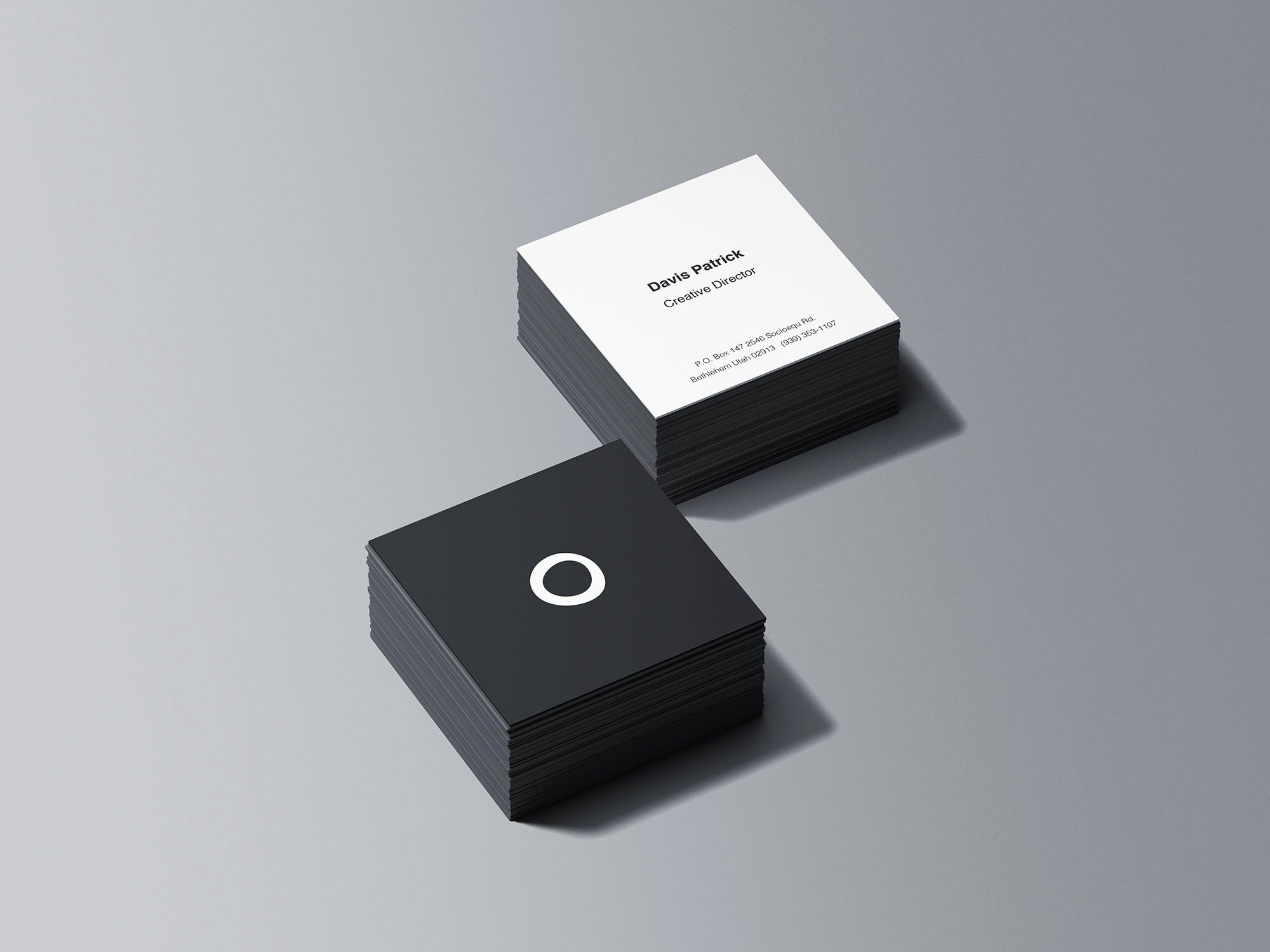Square Business Card Mockup Lovely Square Business Card Stacks Psd Mockup Download