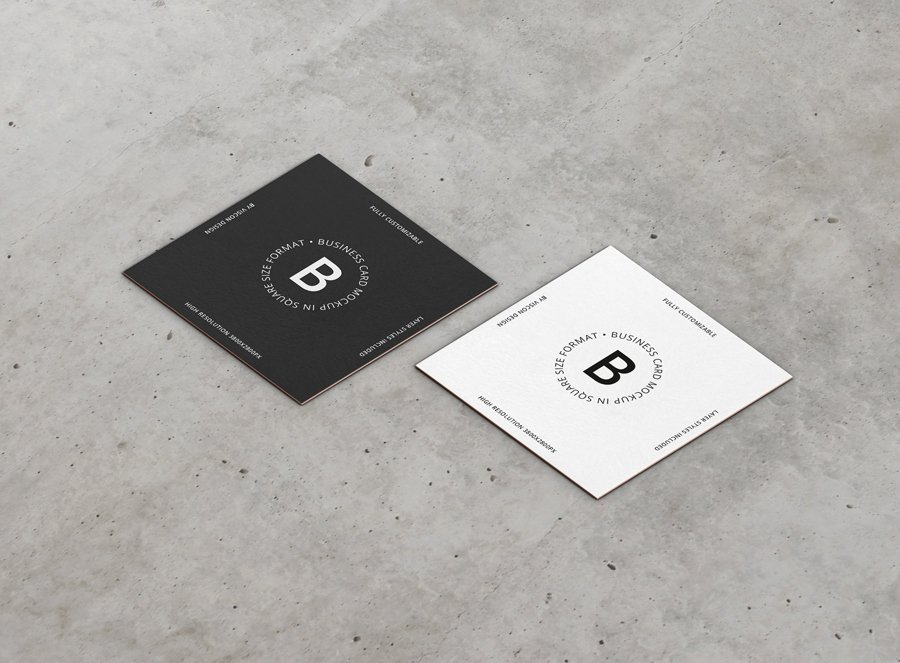 Square Business Card Mockup Luxury Business Card Mockup Square format Premium and Free Mockups
