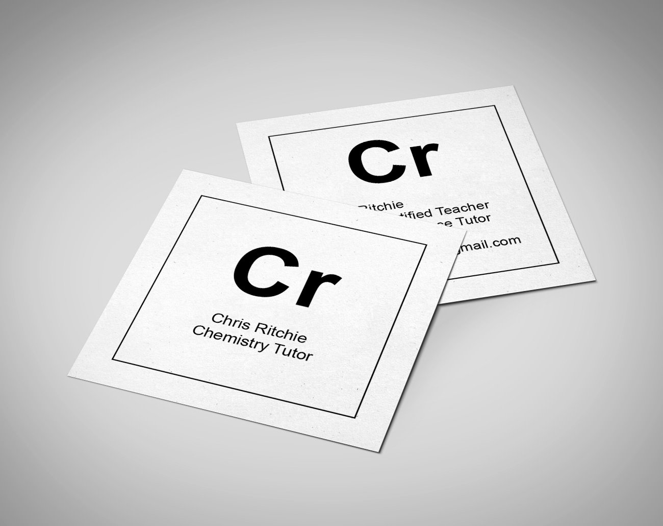 Square Business Card Mockup Luxury Chris Ritchie Chemistry Tutor Identity