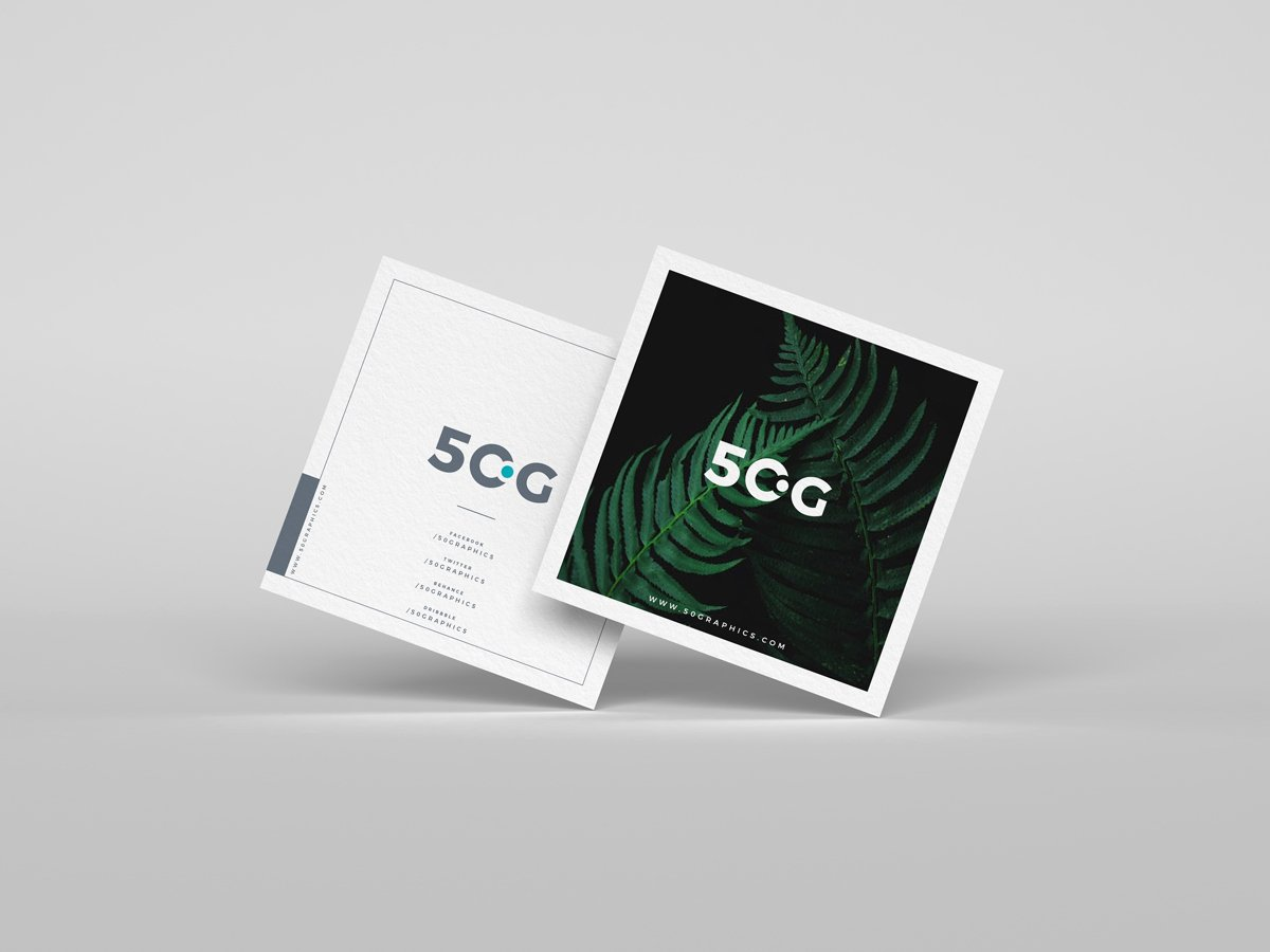 Square Business Card Mockup Luxury Free Brand Square Business Cards Mockup Psd 50 Graphics