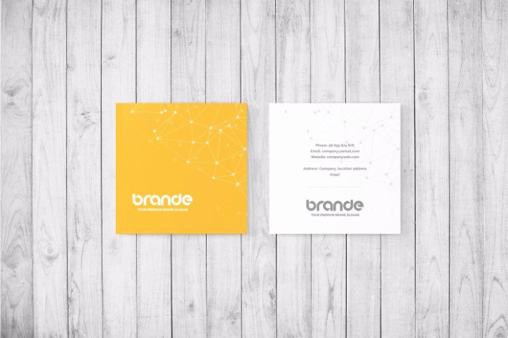 Square Business Card Mockup New 25 Square Business Card Mockup Templates Mashtrelo