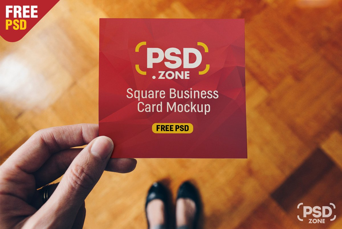 Square Business Card Mockup New Square Business Card Mockup Psd Psd Zone