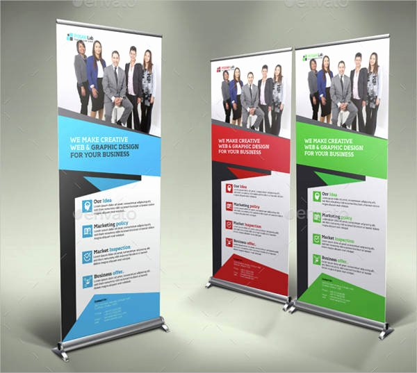 Stand Up Banner Designs Elegant 29 Roll Up Banner Designs Psd Ai Eps Vector