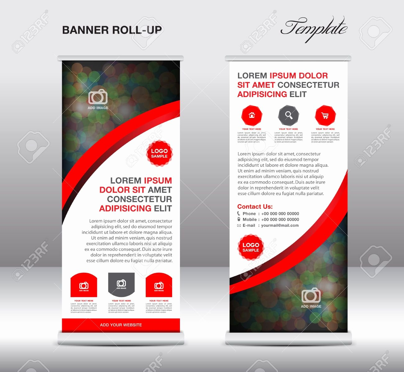 Stand Up Banner Designs Fresh Stock Vector Banner Design Samples