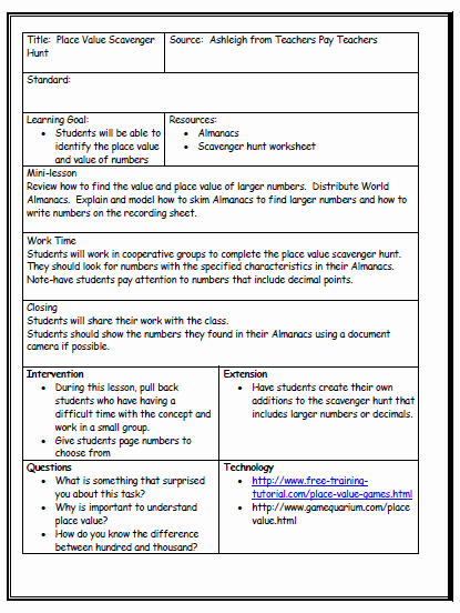 Standard Based Lesson Plan Template Fresh Lesson Plan format Being A Teacher