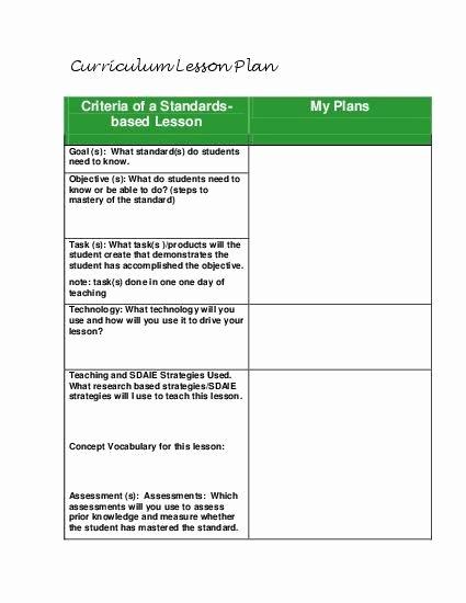 Standard Based Lesson Plan Template Fresh Teacherlingo $1 49 Tandards Based Lesson Planning Guide Template for All Grades