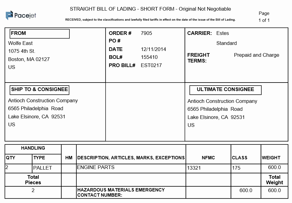Standard Bill Of Lading Inspirational Easier Bill Of Lading Creation for Netsuite Freight