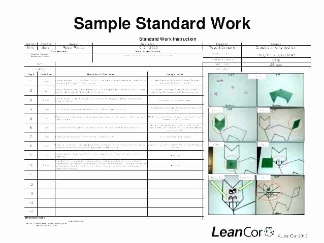 Standard Work Template Excel Awesome Standard Work Template