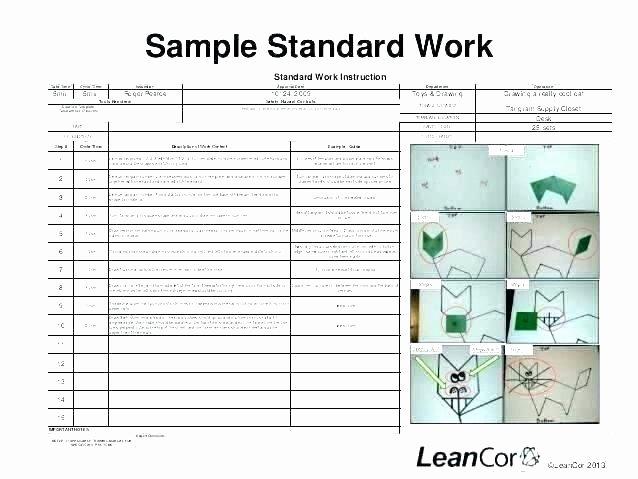 standard work template