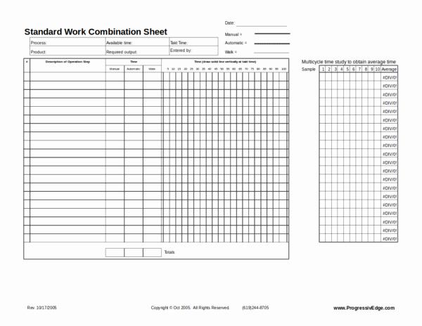 Standard Work Template Excel Luxury Free 10 Standard Worksheet Template In Pdf Word