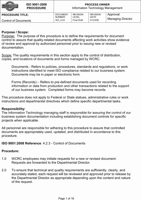 Standardized Work Instruction Template Inspirational Download iso Work Instruction Template for Free