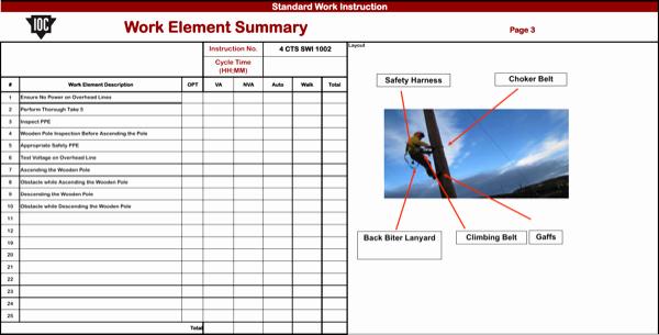 Standardized Work Instruction Template Unique Download Standard Work Instruction Template for Free