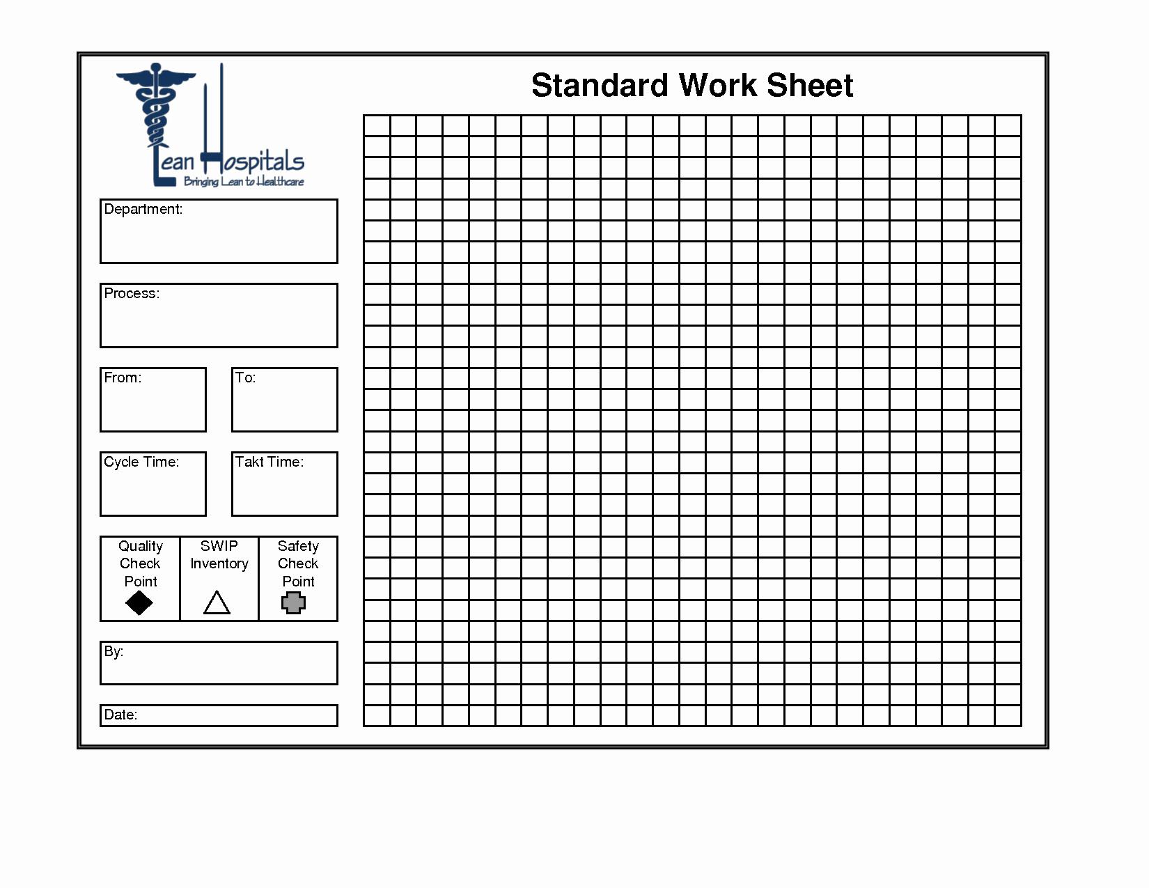 Standardized Work Templates Excel Fresh Best S Of Standard Work Excel Template Standard Work Bination Sheet Template Lean