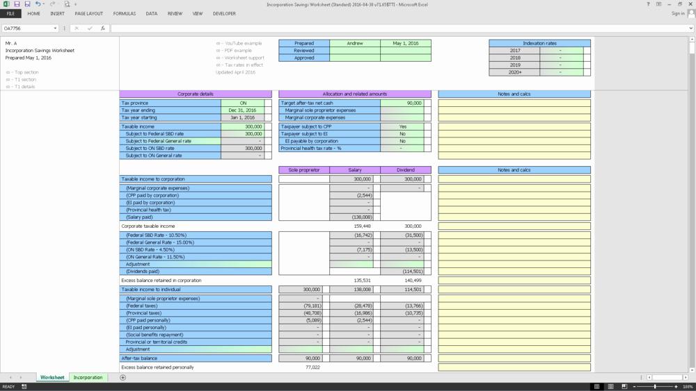 Standardized Work Templates Excel Fresh Tti Tax Planning
