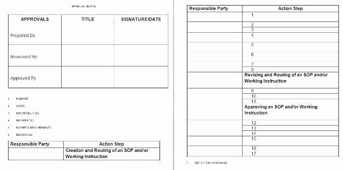 Standardized Work Templates Excel Luxury Lean Standard Work Template Excel Leader Instruction