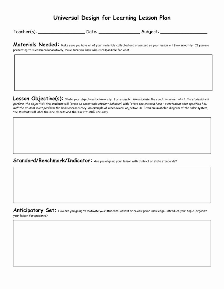 Standards Based Lesson Plan Template Best Of Civics Lesson Plan Templates Florida Standards Preschool Blank Lesson Plan Template