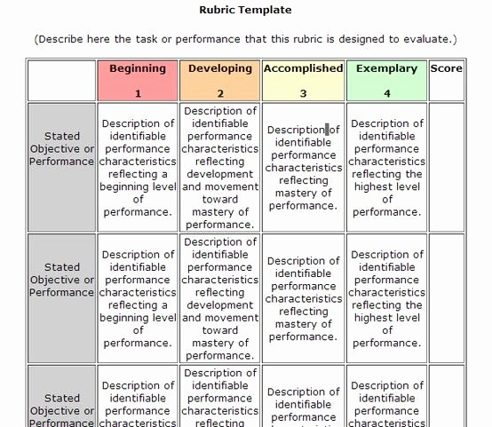 Standards Based Lesson Plan Template Fresh Rubric Template More Electronics