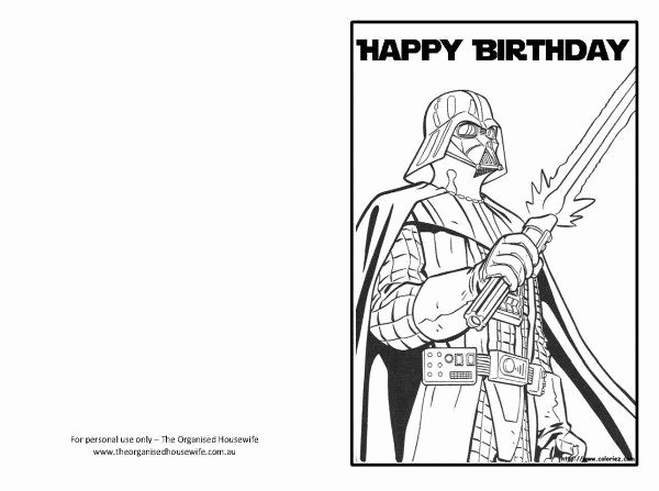 Star Wars Birthday Card Printable Awesome Free Printable Birthday Cards