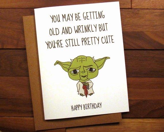 Star Wars Birthday Card Printable Beautiful Funny Birthday Card Star Wars Birthday Card with Recipe