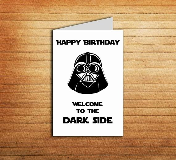 Star Wars Birthday Card Printable Inspirational Star Wars Birthday Card Printable Darth Vader by