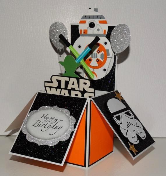 Star Wars Birthday Card Printable Luxury Star Wars Bb8 Happy Birthday Handmade 3d Pop Up Greeting Card