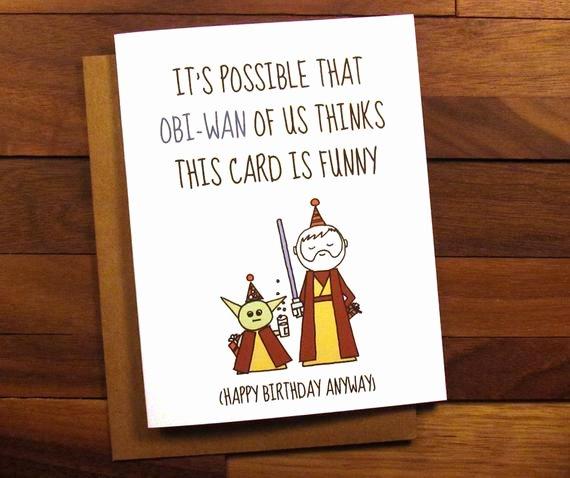 Star Wars Birthday Card Printable Unique Funny Birthday Card Star Wars Birthday Card with Drink