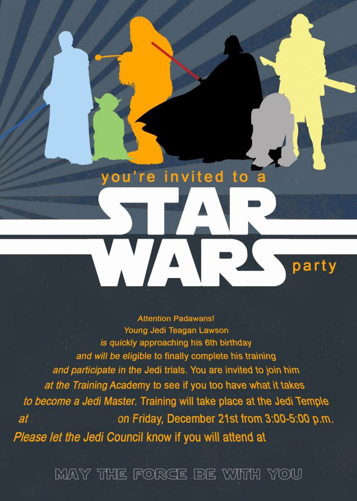 Star Wars Birthday Invitation Best Of Mommy Lessons 101 Star Wars Birthday Party Ideas