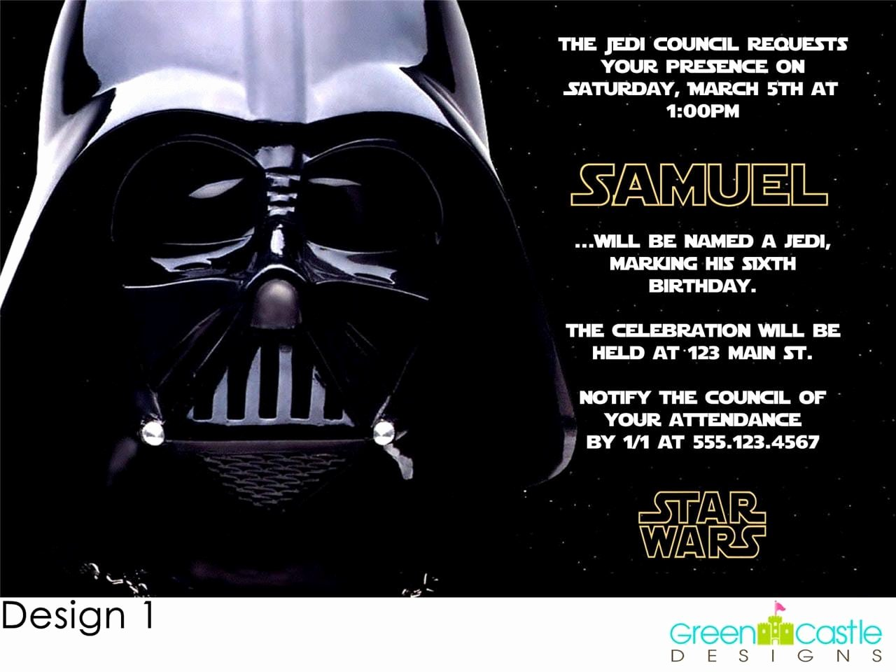 Star Wars Birthday Invitation Elegant Invitations Star Wars