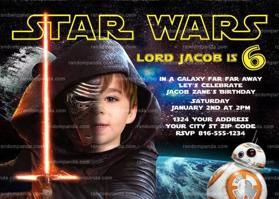 Star Wars Birthday Invitation Luxury Personalize Star Wars Invitation Kylo Ren Party by therandompanda